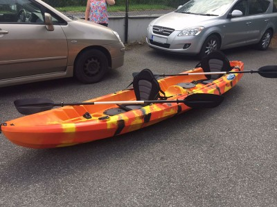 Cyclone 2+1 Family Sit On Kayak Flame Orange