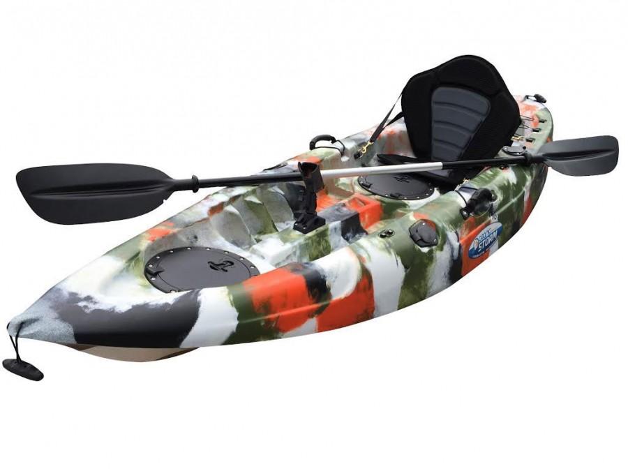 Storm single sit on kayak jungle camo for Fishing kayaks for sale near me